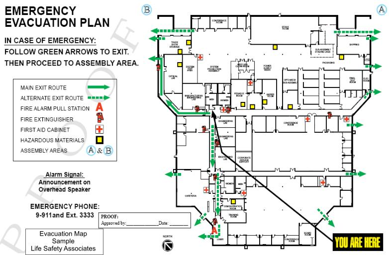 emergency exit plan requirements gallery diagram writing